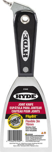 "Hyde 01940 3"" Flex Stainless Steel Joint Knife with Flip Screw Bit"