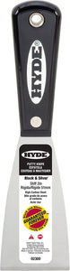 "Hyde 02300 2"" Black & Silver Stiff Putty Knife"