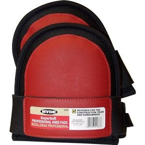 Hyde 09086 Knee Pad Soft w/ Red Stitch PVC