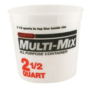 Leaktite 35053 5M3 2-1/2 Qt Multi Mix Container