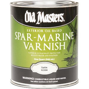Old Masters 92304 Qt Satin Oil Based Spar Marine Varnish