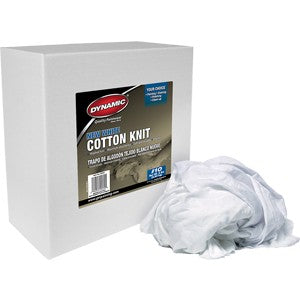 Dynamic 00055 #10 8Lb Box New White Cotton Knit Wiping Cloth