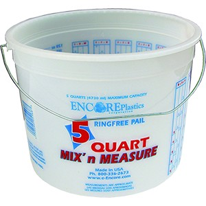 Encore 05166 5Qt Clearvue Ringfree Pail w/ Wire Handle & Graduations