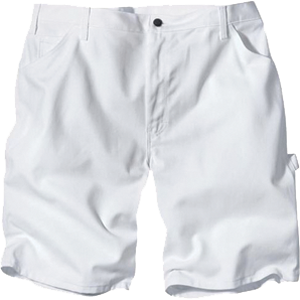Dickies DX400WH White Painters Shorts with 10