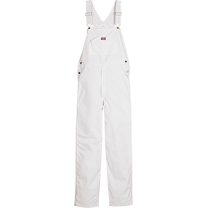 Dickies White Painter Bib Overalls