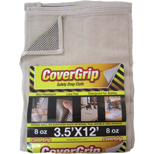 Covergrip 351208 3.5' x 12' Safety Drop Cloth