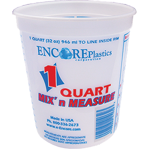 Encore 41032 Qt Mix N Measure Plus Ratios Container (12 PACK)