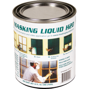 Associated Paint 80-400-4 Clear Masking Liquid H2O 1 Quart