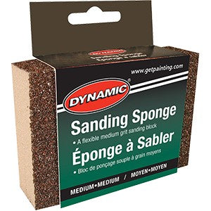 Dynamic AG002607 Medium/Medium Carded Sanding Sponge Display Box (12 PACK)
