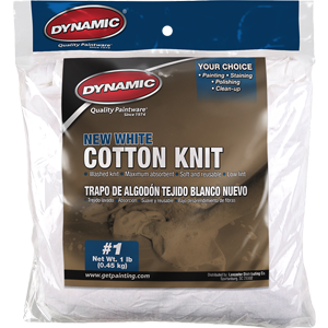 Dynamic 00035 #1 1Lb Bag New White Cotton Knit Wiping Cloth