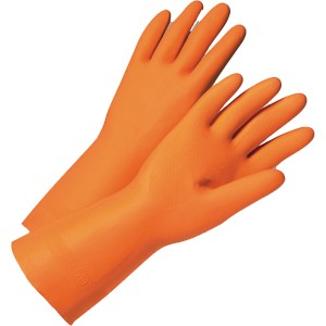 West Chester 00126/L 28mil Large Orange Flock Latex Stripping Glove (1 PAIR)