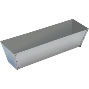 "Warner 207 12"" Stainless Steel Mud Pan"