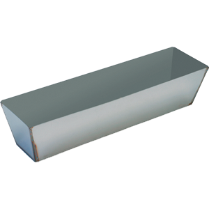 "Warner 196 14"" Stainless Steel Heli-Arc Mud Pan"