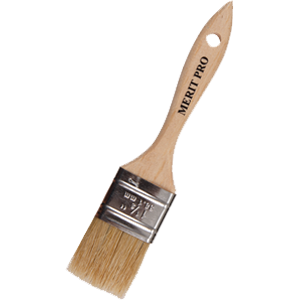 Merit Pro/Dynamic White Bristle Chip Brush
