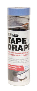 "Trimaco 949560 Easy Mask 48"" x 75' Tape & Drape Plastic Pre-taped Drop Cloth"