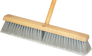 "DQB 10652 18"" Grey Synthetic Broom (No Handle)"