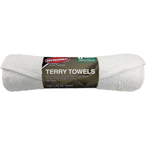 "Dynamic 00812 14"" x 17"" White Terry Towel (6 PACK)"