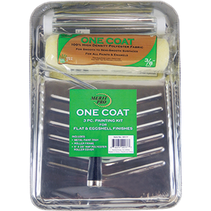 Merit Pro 3 Piece One Coat Paint Kit Includes Metal Tray 9