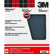 "Load image into Gallery viewer, 3M  9"" x 11""  Wetordry Sandpaper 25Pk"