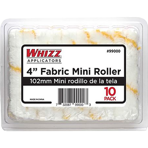 "Whizz 99000 4"" Yellow Stripe Acrylic 1/2"" Nap Mini Roller Clamshell (10 Pack)"