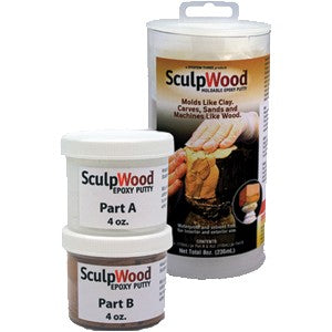 System Three 1600K10 8 oz. Kit Sculpwood Two Part Epoxy 4 oz. Resin & 4 oz. Hardener