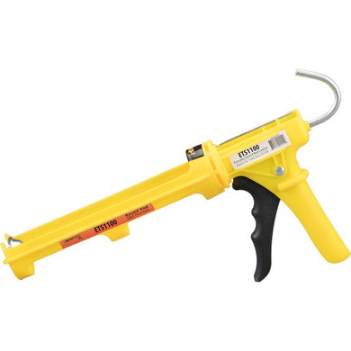Dripless ETS1100 DIY Composite Caulking Gun, Round Rod Cradle Frame, 10:1 Thrust Ratio
