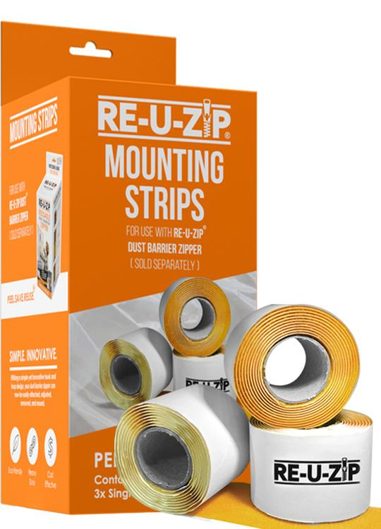 RE-U-ZIP Mounting Strips | 3 Pack