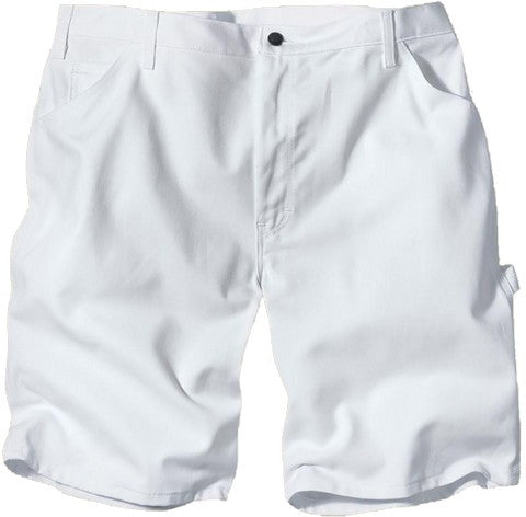 Dickies WR833WH Mens White Twill Painters Short 13