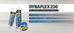Dap 18275 10.3oz White 230 Dynaflex Elastomeric Latex Sealant (12 PACK)
