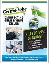 Load image into Gallery viewer, Miracle Mist MMGBC-4 GermaFobe 32 oz Disinfecting Germ & Virus Bleach Cleaner ( 10 PACK)