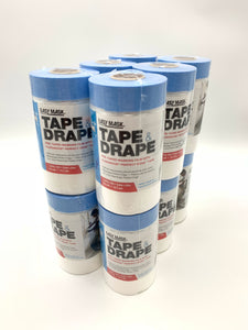 Trimaco 949460 Easy Mask .6m x 22m Tape & Drape Plastic Pretaped Drop Cloth (12PACK)