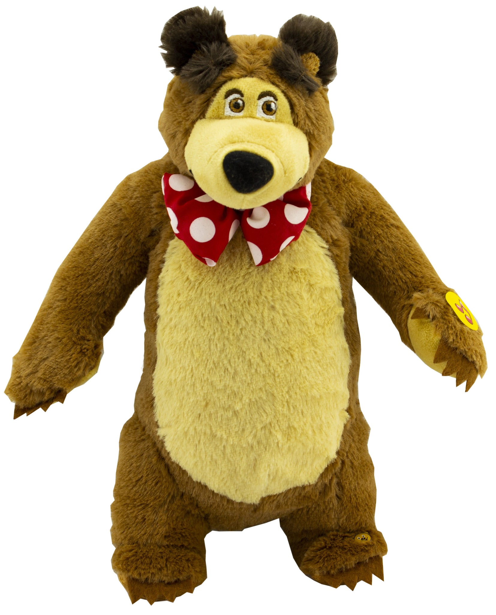 Lovely Giggle Character from The Cartoon Funny Soft Toy Teddy Bear Stuffed Animal Plush Masha y el OSO