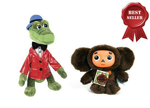 The Legendary Soviet brand of Russian Stuffed toy Cheburashka and his friend Crocodile Gena – Sojuzmultfilm