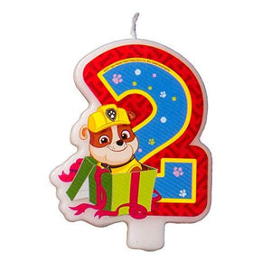 Сandle on a Cake Topper 2 Years Paw Patrol Must Have Accessories for the Party Supplies and Birthday