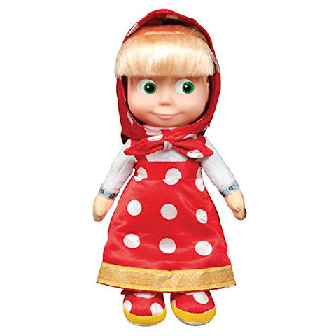 Masha and the Bear Soft Toy 11-inch Doll Masha Red Sarafan Speaks English 7 Phrases 1 Song Masha y el OSO