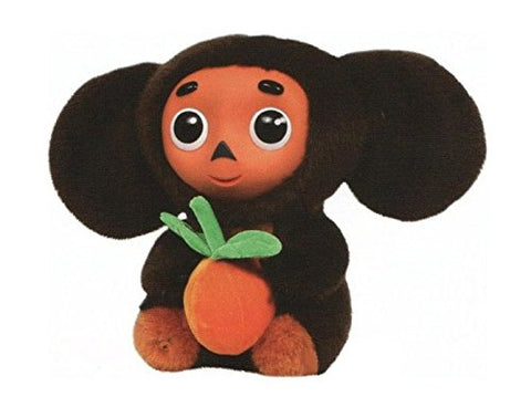 Cheburashka with Orange Russian Speaking Soft Plush Toy