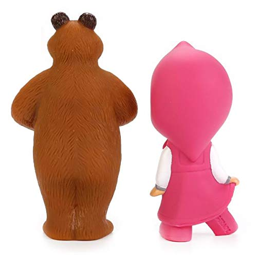 Russian Squeaking Doll Masha and the Bear Set For Bath Baby Funny Figures Toys for Toddlers Girls and Boys