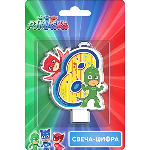 PJMASKS Сandle on a Cake Topper 8 Years Must Have Accessories for the Party Supplies and Birthday Gekko Owlette