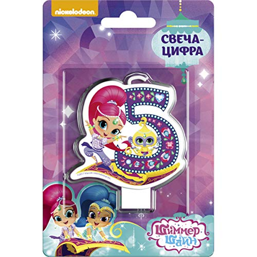 Shimmer and Shine Cupcake Topper Candle 5 Years Baking Dessert Decorations Happy Birthday Holiday Anniversary Jubilee Party Supply Baby Celebration