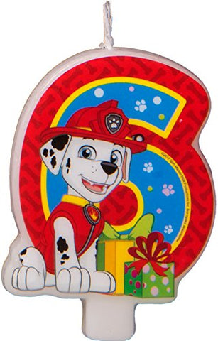 Сandle on a Cake Topper 6 Years Paw Patrol Year Must Have Accessories for the Party Supplies and Birthday
