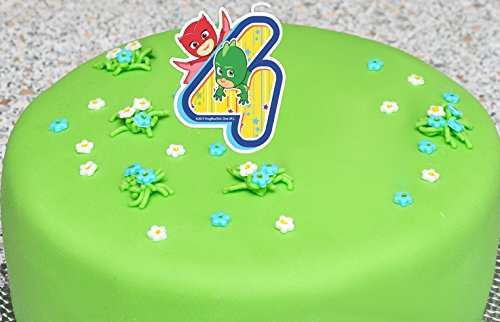 Andle On A Cake Topper 4 Years PJ MASKS Gekko Owlette Must Have Acces Vikstore