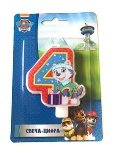Сandle on a Cake Topper 4 Years Paw Patrol Must Have Accessories for the Party Supplies and Birthday