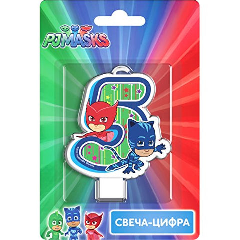 PJMASKS Сandle on a Cake Topper 5 Years Catboy Owlette Must Have Accessories for the Party Supplies and Birthday
