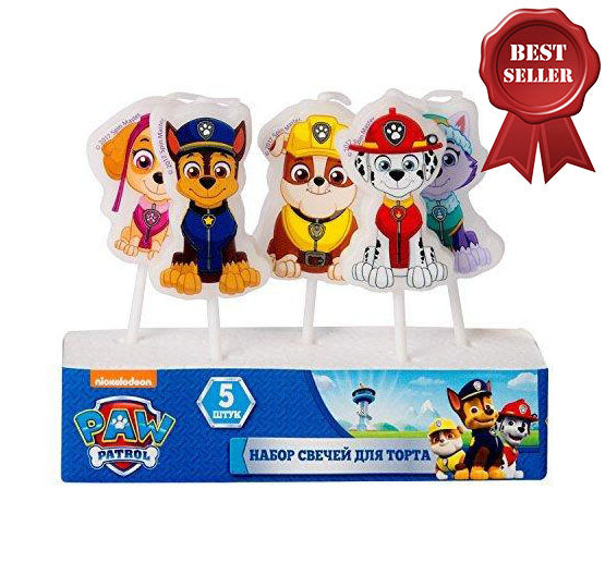 Figures Candles on a Cake Topper Paw Patrol Must Have Accessories for the Party Supplies and Birthday