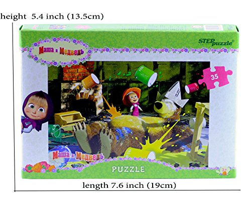 Masha & the Bear 35 Pieces Funny Bear Jigsaw Puzzle For Toddlers and Kids ages 5 Masha y el Oso