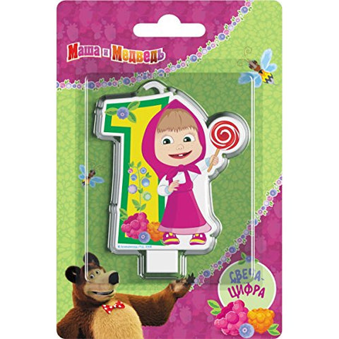 Candle Cake Topper 1 Year Birthday Masha and the Bear Must Have Accessories Party Supplies Birthday Masha Oso Para