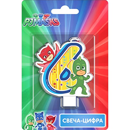 PJMASKS Сandle on a Cake Topper Gekko Owlette 6 Years Must Have Accessories for the Party Supplies and Birthday