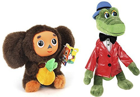 The Legendary Soviet Brand Talking Toy Cheburashka and his friend Crocodile Gena – Sojuzmultfilm