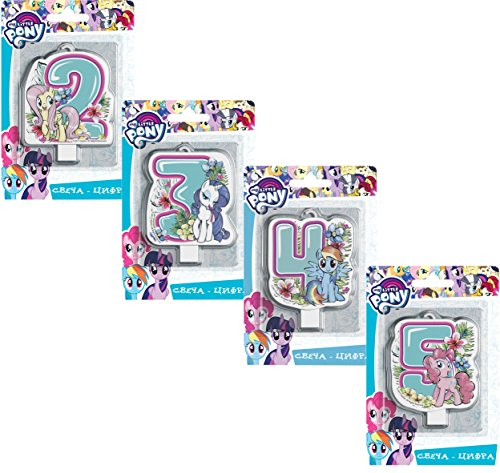Сandle on a Cake Topper 4  Year My Little Pony Must Have Accessories for the Party Supplies and Birthday