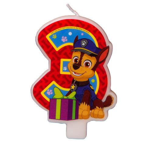 Сandle on a Cake Topper 3 Years Paw Patrol Must Have Accessories for the Party Supplies and Birthday